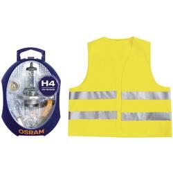 OSRAM-Rezervne žarnice + varnostni telovnik EN 471, H4, 12V, 1 komplet, P43t (DxŠxV) 115x90x60mm