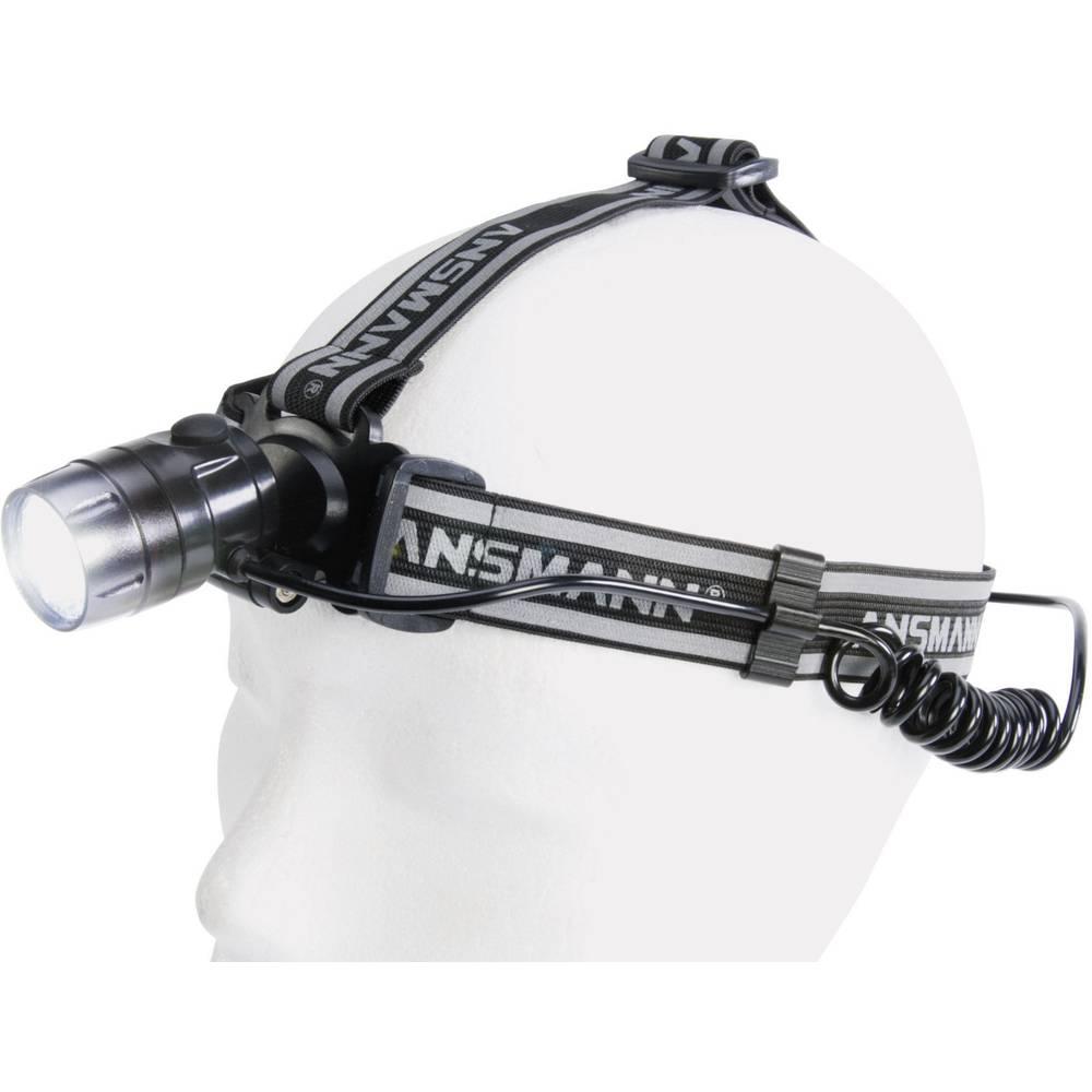 LED naglavna svetilka AnsmannHD3 5819073-510 z zadnjo lučjo,10 h, črna
