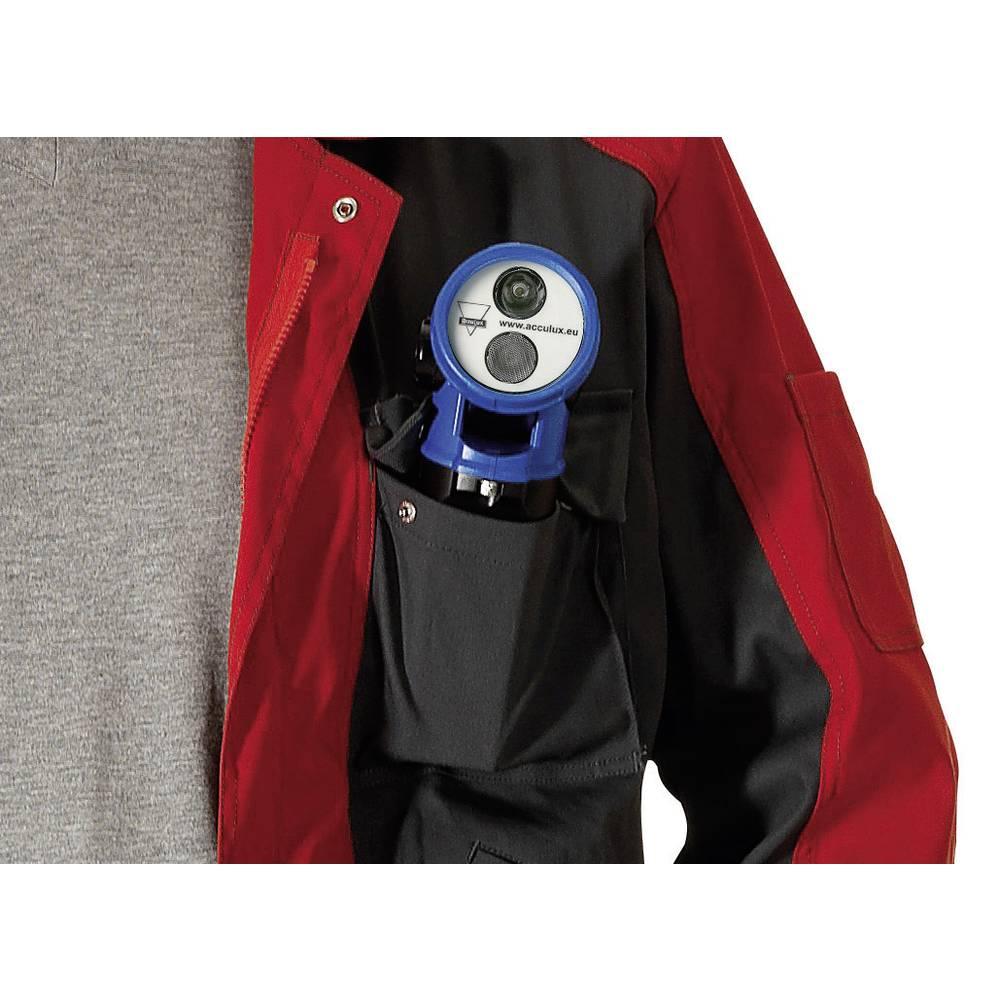 Ročna svetilka s pregibno glavo AccuLux HL20 + 230 V polnilnik, črno-modra, LED Cree 459681
