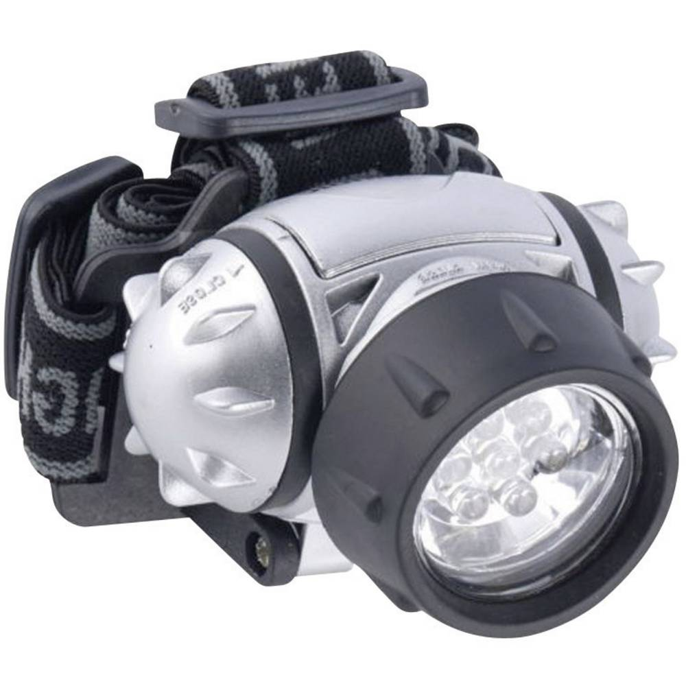 LED naglavna svetilka Grundig38962, 7 LED, srebrna 38692