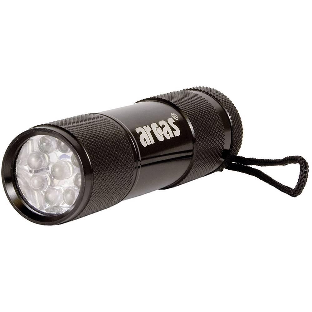 LED mini džepna svjetiljka Alu 9 LED na baterije 65 g crna