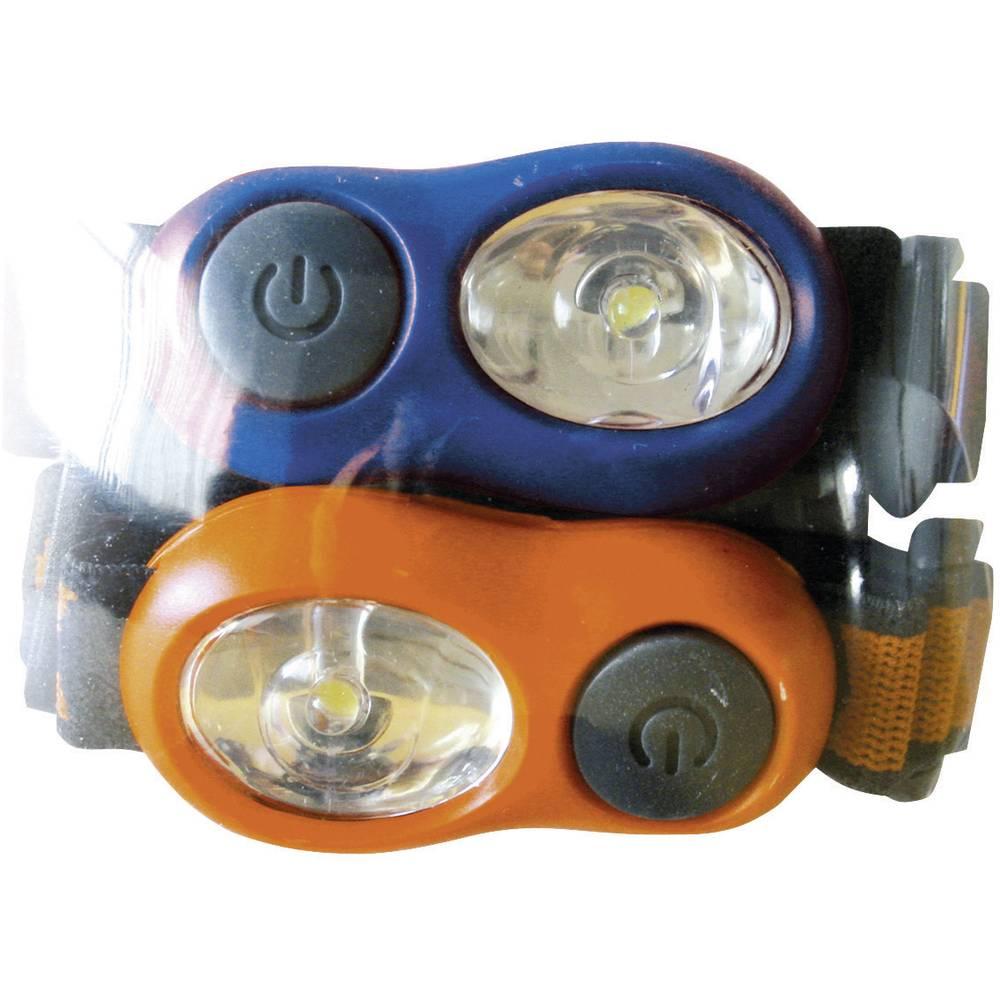 LED naglavna svetilka, otroška Energizer, 629030, modre in oranžne barve, 2 kosa