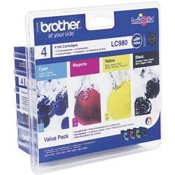 Originalne patrone za printer LC-980 Brother kombinirano pakiranje crna, cijan, magenta, žuta