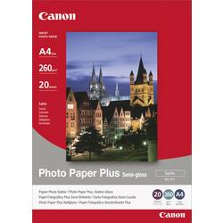 Fotopapper Canon Photo Paper Plus Semi-gloss SG-201 1686B021 DIN A4 260 G/m² 20 ark Sidenglans