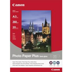 Fotopapper Canon Photo Paper Plus Semi-gloss SG-201 1686B026 DIN A3 260 G/m² 20 ark Sidenglans