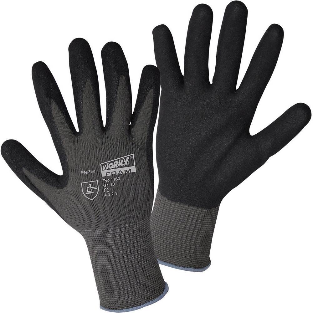 worky 1160 Finstrikhandske FOAM-Sandy Nitril 100 % polyamid med nitrilbelægning Størrelse (handsker): 10, XL