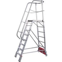 Aluminijasta podestna lestev, delovna višina (maks.): 5.30 m Krause 833372 srebrne barve 54 kg
