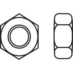 Sexkantsmutter TOOLCRAFT M2.5 DIN 934 Rostfritt stål A2 10 st