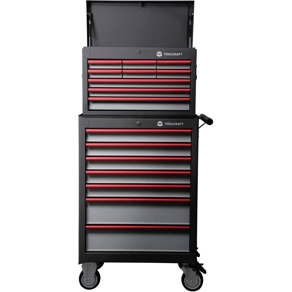 TOOLCRAFT kolica za radionicu 307 + Kofer za alat 309 mjere:(D x V x Š) 681 x 1434 x 459 mm: 5 razina