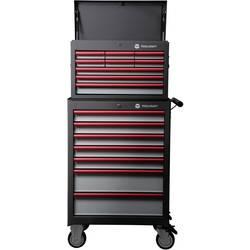 TOOLCRAFT 888574 voziček za delavnico 307 + kovček za orodje 309 mere:(Š x V x G) 681 x 1434 x 459 mm voziček za delavnico: 5 fl