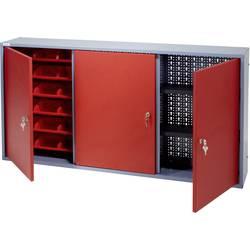 Küpper 70192 viseča omara 120 cm, 3 vrata, 18 škatel rdeče barve (Š x V x G) 120 x 60 x 19 cm