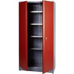 Küpper 70292 visoka omara 2-vratna rdeče barve (Š x V x G) 91 x 180 x 45 cm