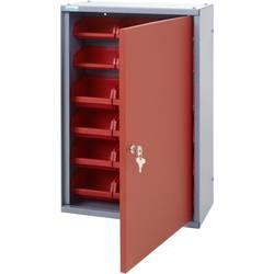 Küpper 70312 viseča omara 40 cm , 18 škatel rdeče barve (Š x V x G) 40 x 60 x 19 cm