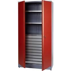 Küpper 70592 omara za material z dvojnimi vrati, rdeče barve (Š x V x G) 910 x 1800 x 450 mm