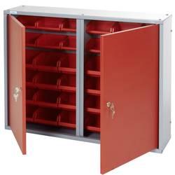 Küpper 70222 viseča omara 80cm, 2vrata, 36 škatel rdeče barve (Š x V x G) 80 x 60 x 19 cm
