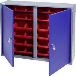 Küpper 70227 viseča omara 80cm, 2vrata, 36 škatel ultramarin-modre barve (Š x V x G) 80 x 60 x 19 cm