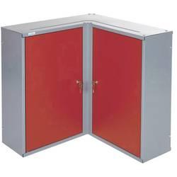 Küpper 70372 kotna viseča omara, 2 vrati rdeče barve (Š x V x G) 60 x 60 x 19 cm