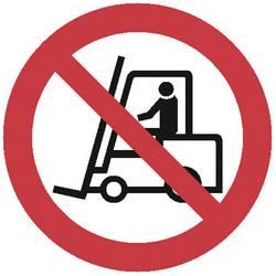 Opozorilna tabla za postavitev na mizo Prepoved vozil z industrijsko opremo (Š x V x G) 275 x 600 x 270 mm Moravia MORION 345.28