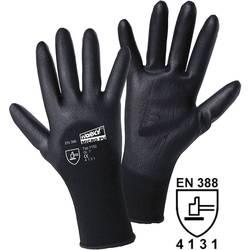 worky 1152 MICRO black fino pletene rukavice s djelimično obloženom PU poliamidnom prevlakom 100 % poliamid s PU prevlakom, veli