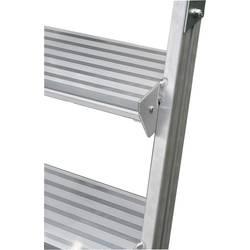 Aluminijasta podestna lestev, mobilna, delovna višina (maks.): 3.90 m Krause 820280 srebrne barve 58.1 kg