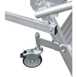 Aluminijasta podestna lestev, mobilna, delovna višina (maks.): 3.65 m Krause 820273 srebrne barve 52.7 kg