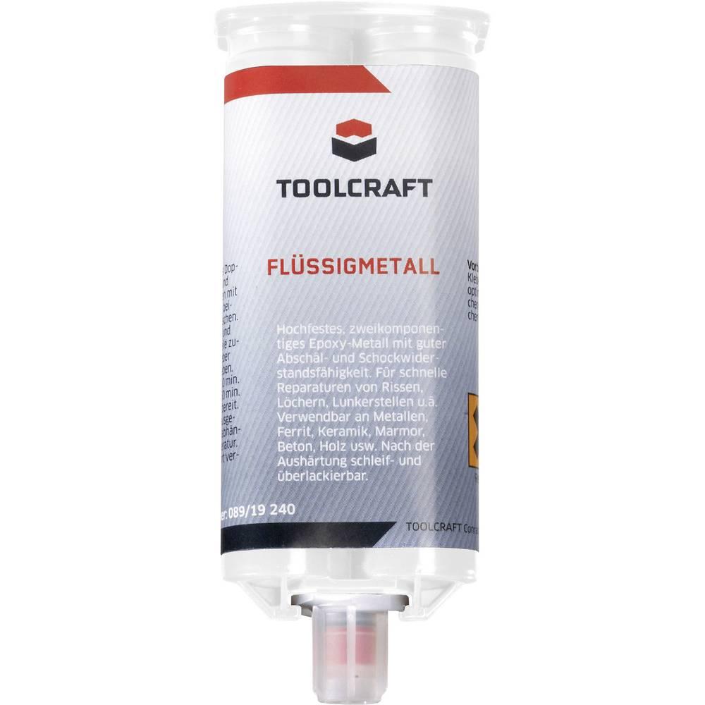 TOOLCRAFT dvokomponentno lepilo za kovino 50 g