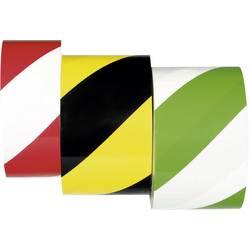Moravia 261.19.066 PROline-trak zeleno-bele talne trakove za označevanje samolepilnih trakov 33 m x 75 mm