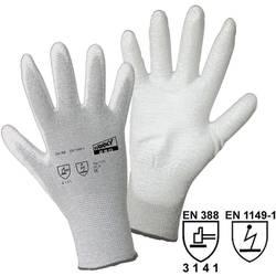 Fine štrikane rukavice Worky 1171 ESD, poliamid/karbonska vlakna s PU-prevlakom, vel. 8