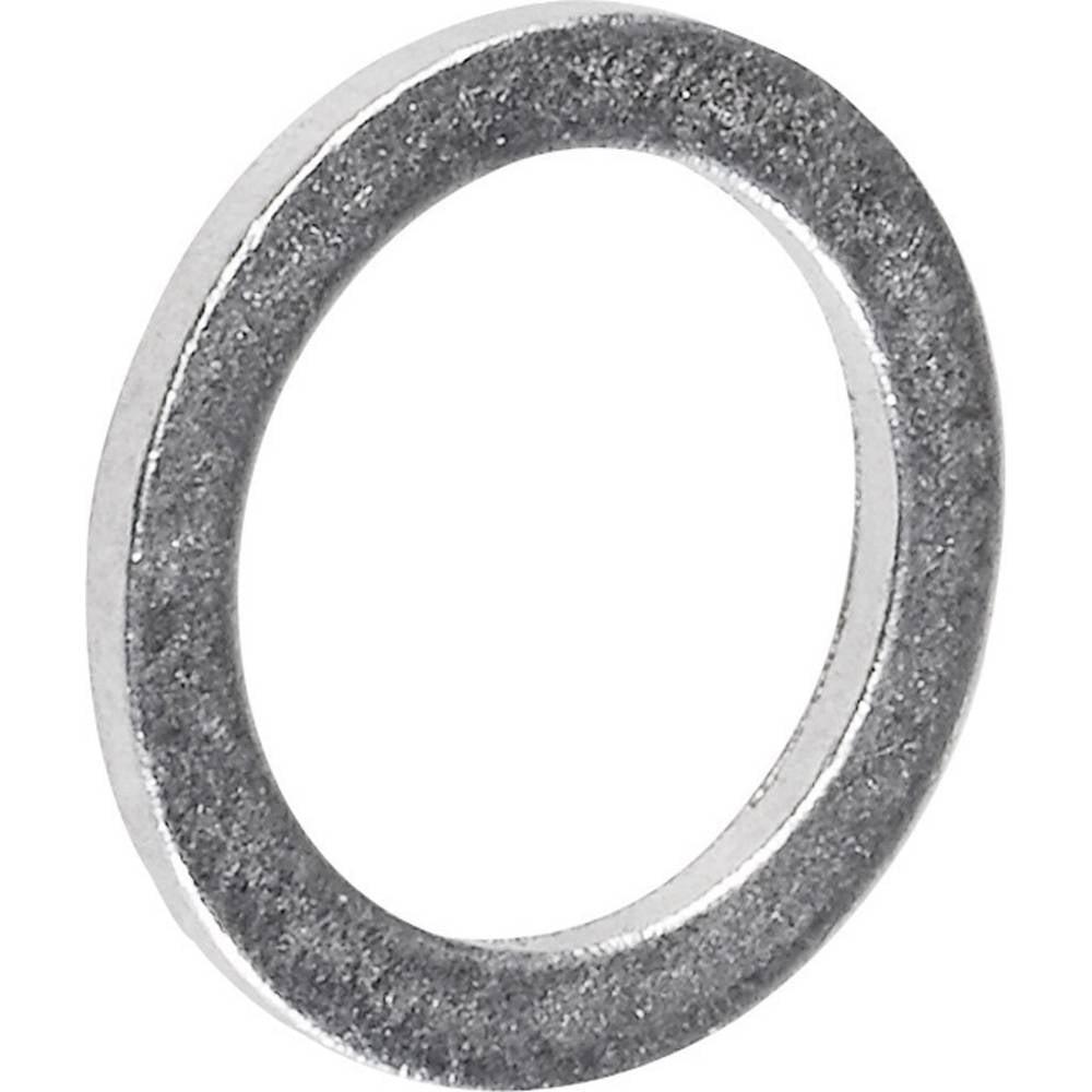 Tesnilni obroč, notranji premer: 8 mm DIN 7603 aluminij 100 kosov TOOLCRAFT 893842