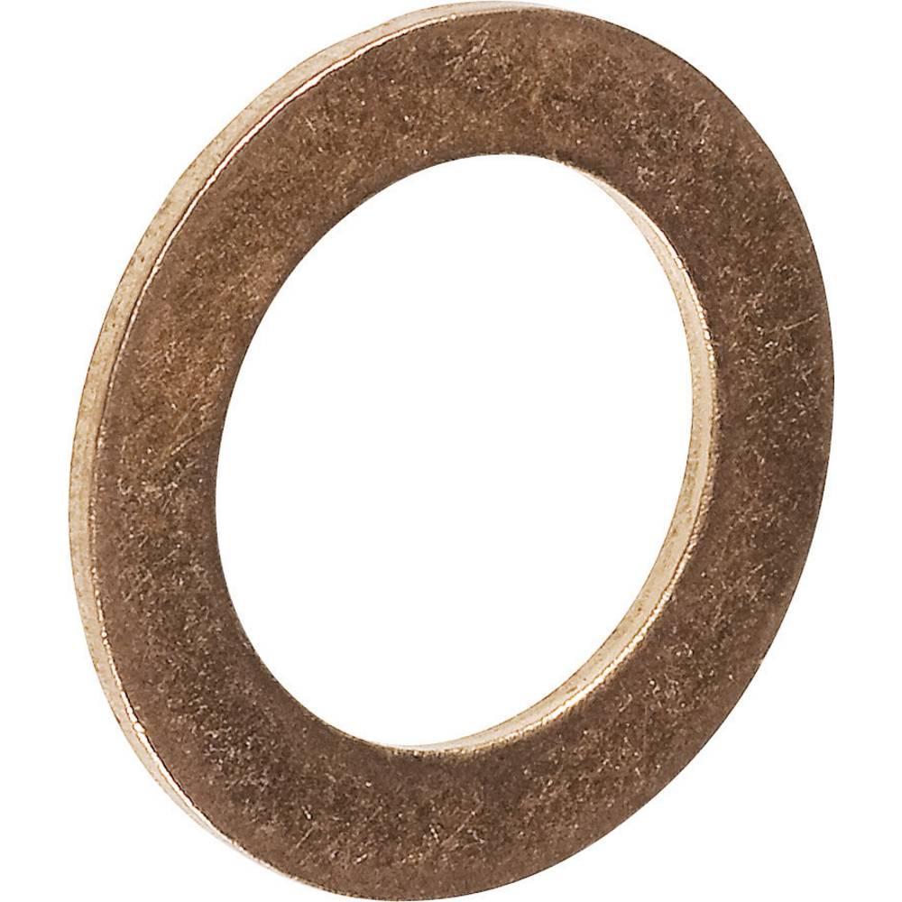 Tesnilni obroč, notranji premer: 10 mm DIN 7603 baker 100 kosov TOOLCRAFT 893850