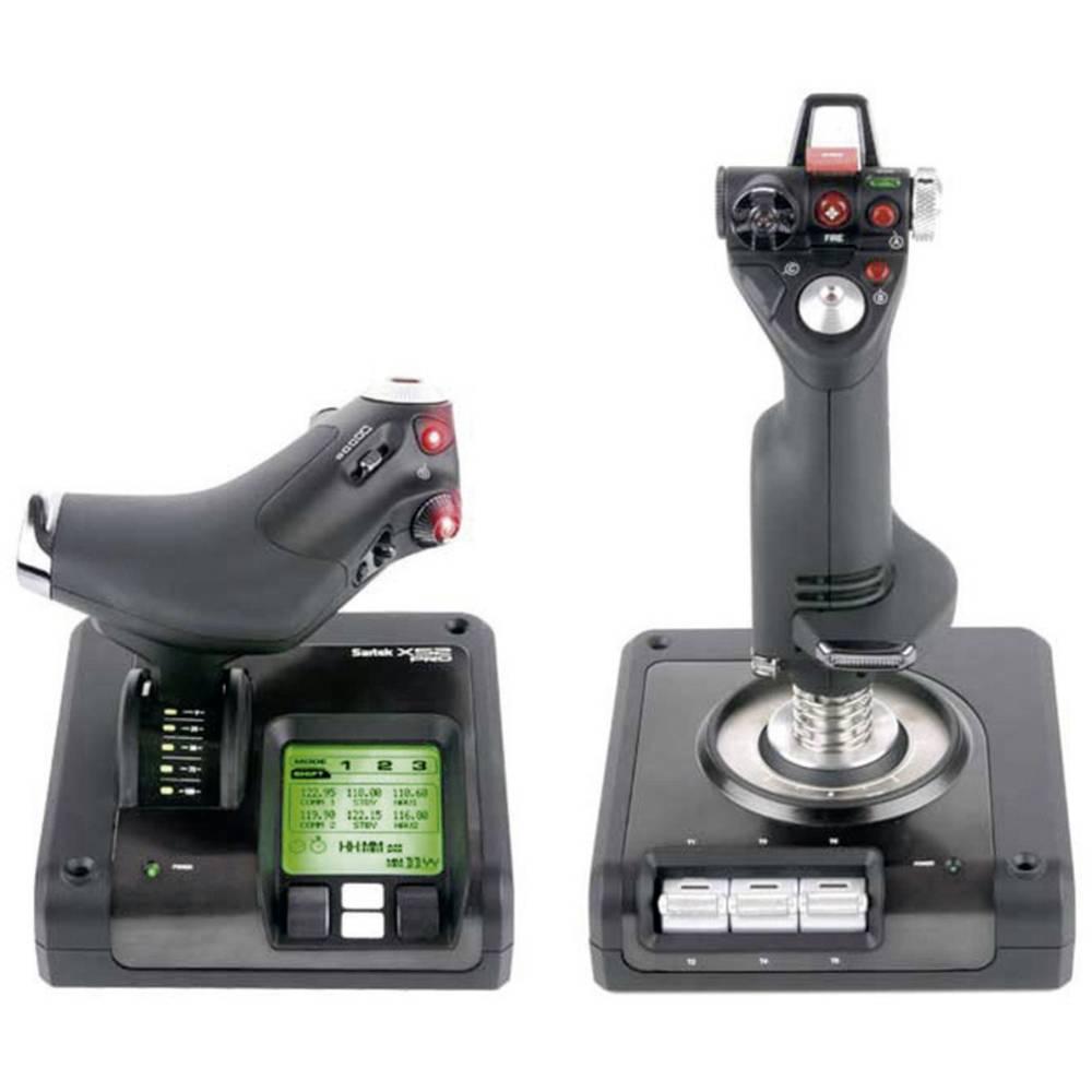 Flygsimulator-joystick Saitek X52 Pro Flight Control System USB Svart