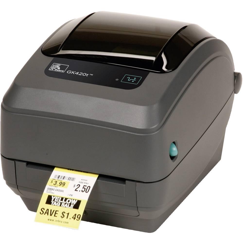 Tiskalnik etiket Zebra Technologies GK420t termični 203 x 203 šir. etiket (maks.): 110 mm USB, RS-232, LAN Etttgk42e2-c