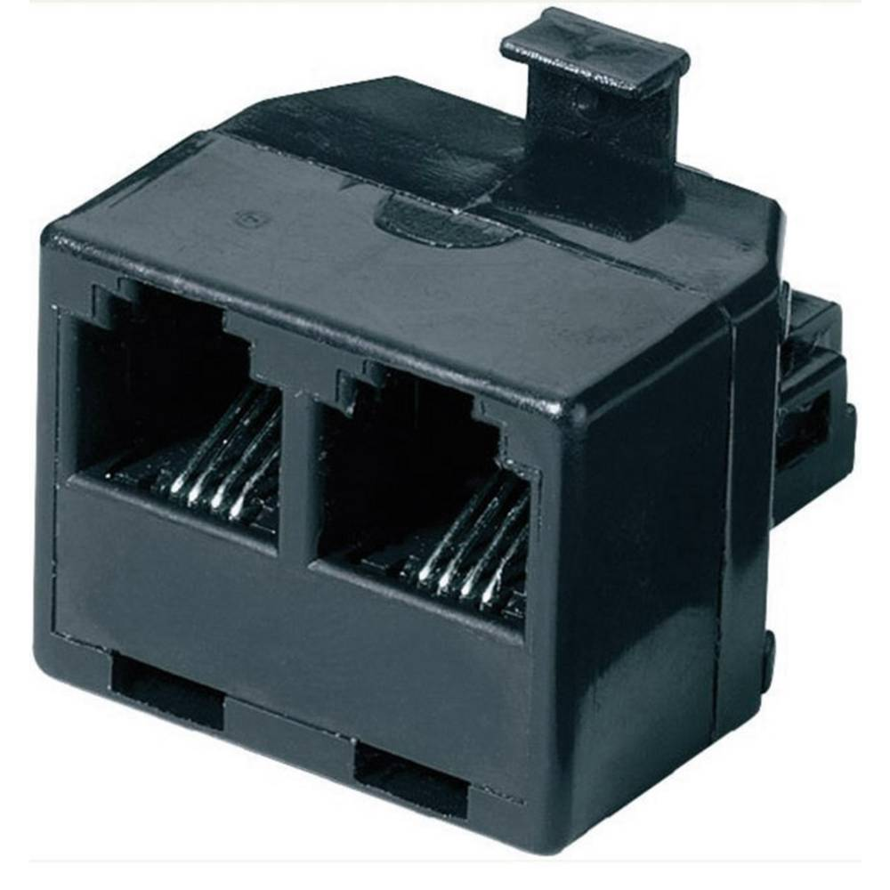Western Y-adapter 0 m crne boje Basetech