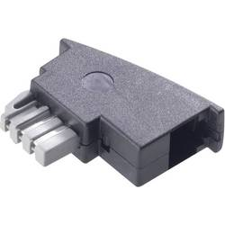 Telefon Adapter Basetech [1x TAE-N-stiftdon - 1x RJ11 hona 6p4c] 0 m Svart