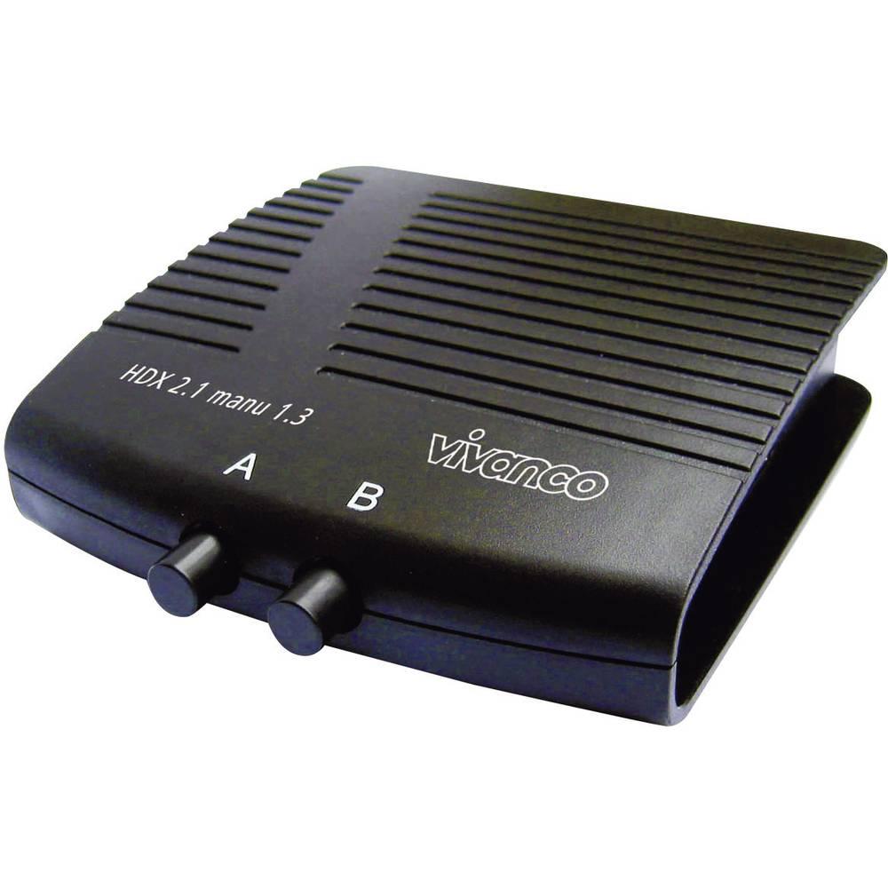 HDMI-preklopnik Vivanco HD 2.1Manu 1.3, črne barve, številovhodov: 2, število izhodov: 1 25349