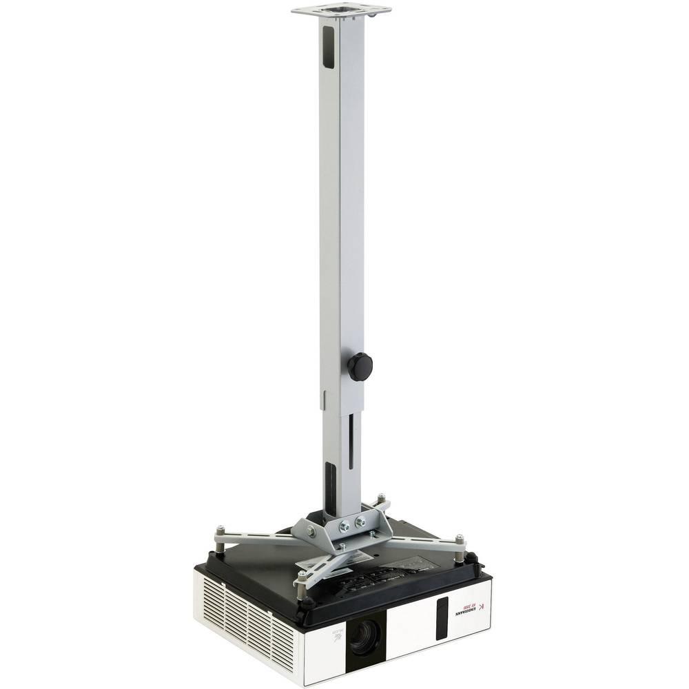 Stropni nosilec za projektor, nagiben, vrtljiv, razdalja od tal/stropa (maks.): 13.5 cm Kindermann Quadro stropni nosilec