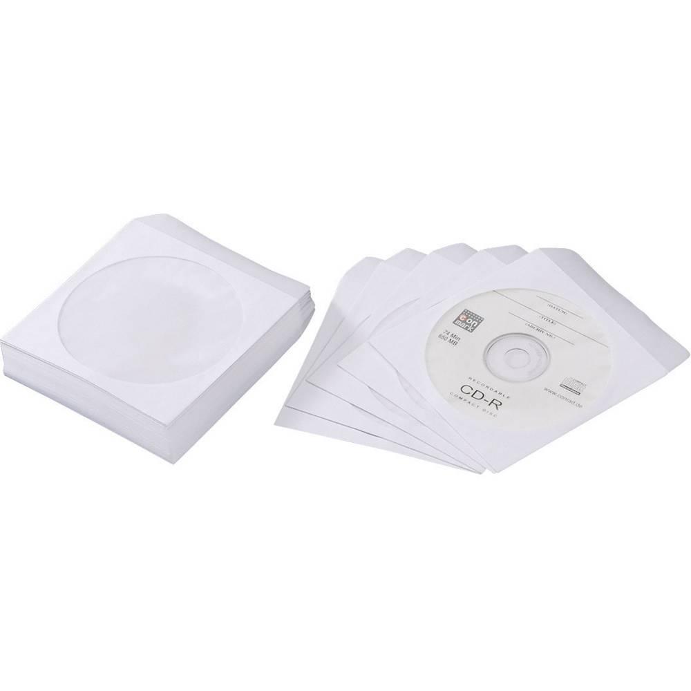 Papirnati ovitki za CD-je 50 kosov, beli
