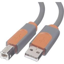 Anslutningskabel Belkin USB 2.0 [1x USB 2.0 A hane - 1x USB 2.0 B hane] 3 m Grå guldpläterad kontakt, UL-certifierad