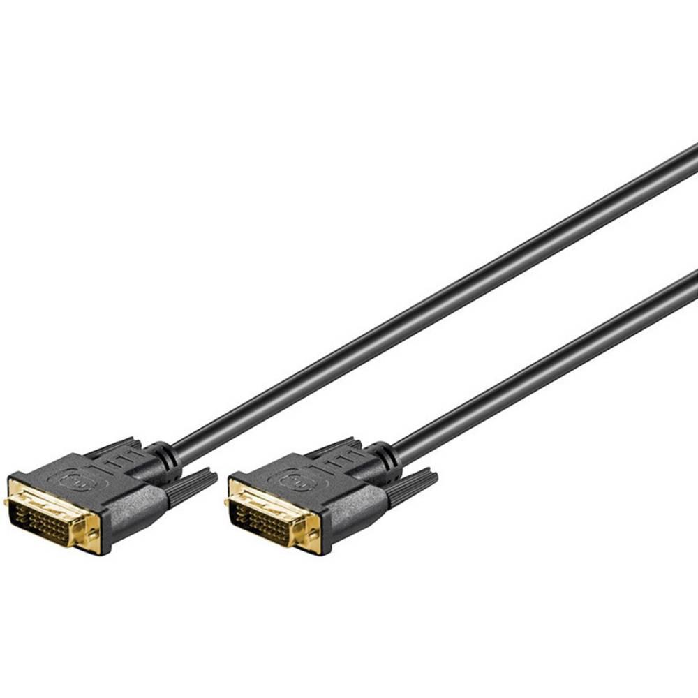 DVI priključni kabel Goobay [1x DVI-utikač 24+5-pol  1x DVI-utikač 24+5-pol.] 5m, crn