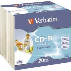 CD-R 80 prazni Verbatim 43424 700 MB 20 kom. tanka kutija ispisiv