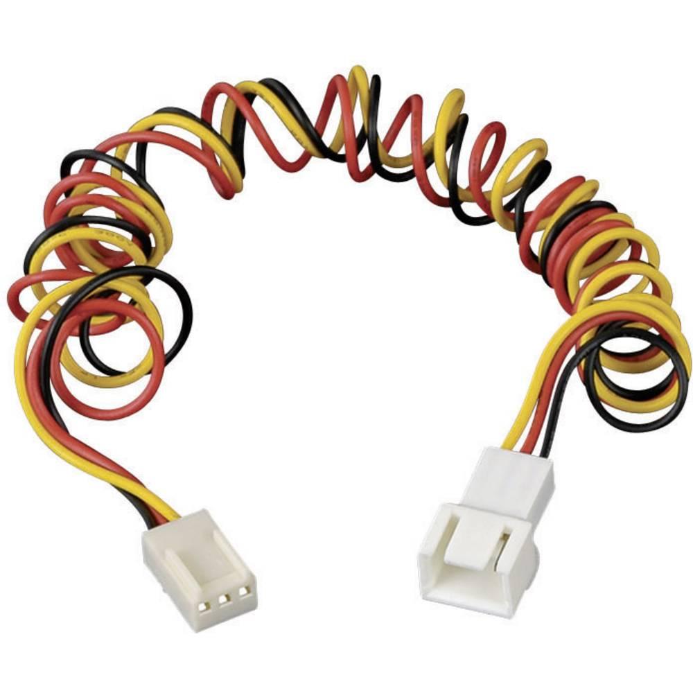 Produžni kabel za PC ventilator [1x utikač za PC ventilator 3pol. - 1x utikač za PC ventilator 3pol.] 60 cm crni, crveni, žuti A
