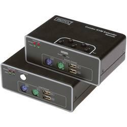 VGA, PS/2, USB 2.0 Extender (forlænger) via netværkskabel RJ45 Digitus DS-51110 200 m N/A