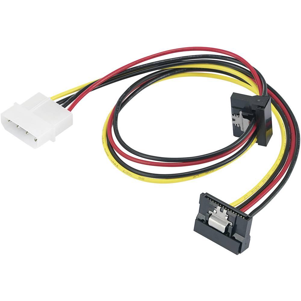 Strujni Y-adapter [1x IDE-strujni utikač 4pol. - 2x SATA-strujna utičnica 15pol.] 0.46 m crni, crveni, žuti Renkforce