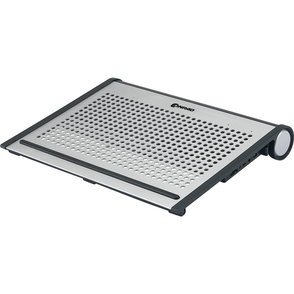 Notebook-stativ med kylning 973809 justerbara fläktar, höjdjusterbar