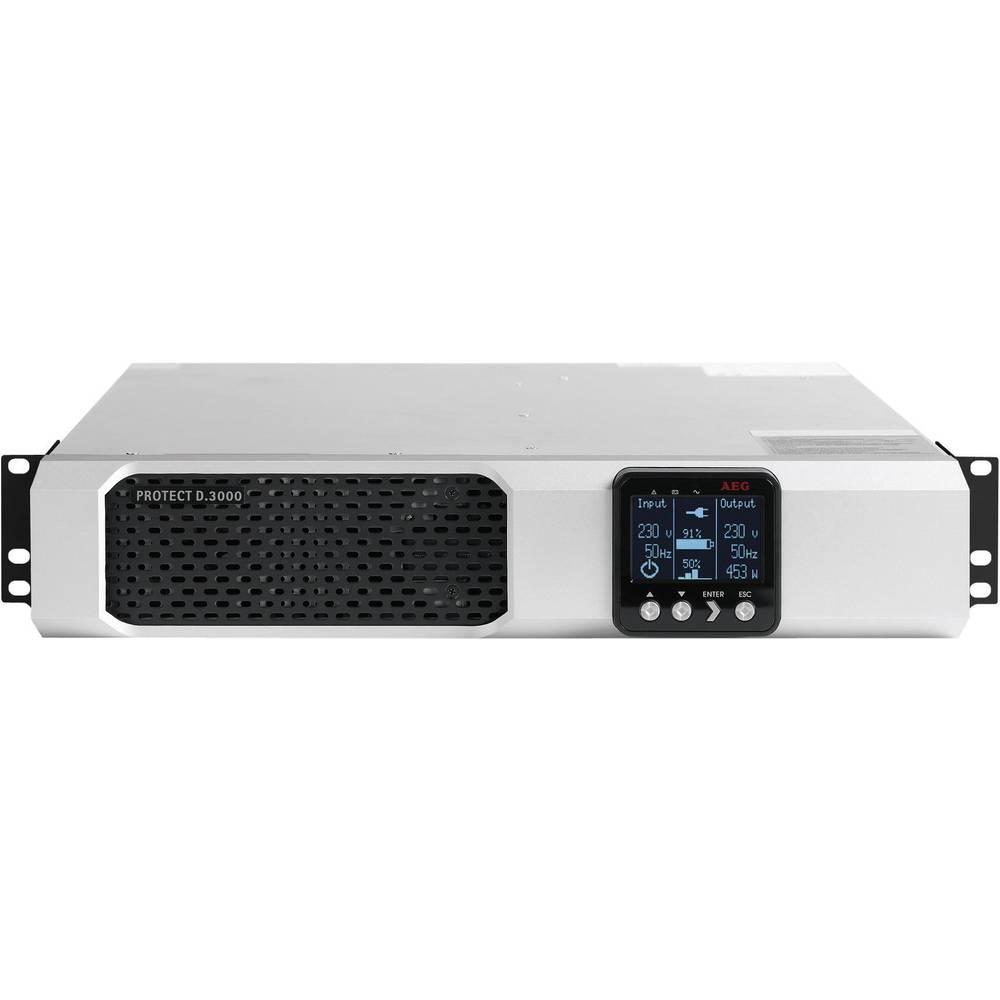 Enota za brezprekinitveno napajanje AEG Protect D Rack, 3.000 VA, z LCD-prikazovalnikom 6000008438 AEG Power Solutions
