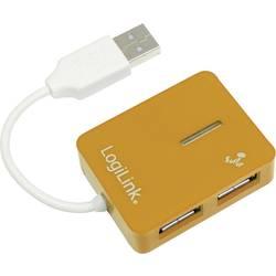 4 porte USB 2.0-hub LogiLink UA0137 Orange