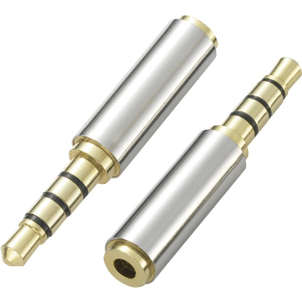 Banana adapter, iz 3,5 mm moškega na 2,5 mm ženski konektor,stereo/AUX