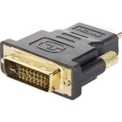DVI / HDMI Adapter [1x DVI-Stecker 24+1pol. => 1x HDMI-Stecker] črna pozlačeni kontakti renkforce