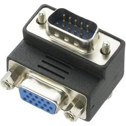 VGA adapter [1x VGA-vtič 1x VGA-vtičnica] 90° gewinkelt 0 m črne barve renkforce