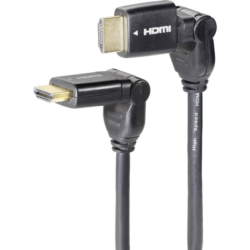 HDMI priključni kabel [1x HDMI-vtikač 1x HDMI-vtikač] 3.00 m črn SpeaKa Professional